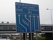 M1 (South) J21 Sign From Leicester Forest East Services - Coppermine - 17937.jpg