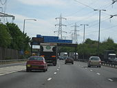 M6 Motorway Heading South - Approaching Junction 7 For A34 - Geograph - 1291141.jpg