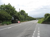 Minor junction on the A5 - Geograph - 887605.jpg
