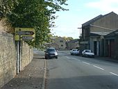 Old road sign, Halifax Road, Elland - Geograph - 1518849.jpg