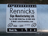 Rennicks sticker on M8 crash barrier. - Coppermine - 22118.jpg