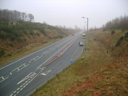 The A63 south of Brayton Barff - Geograph - 1726280.jpg