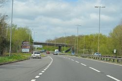 B6387 Junction on A1 - Geograph - 3448399.jpg