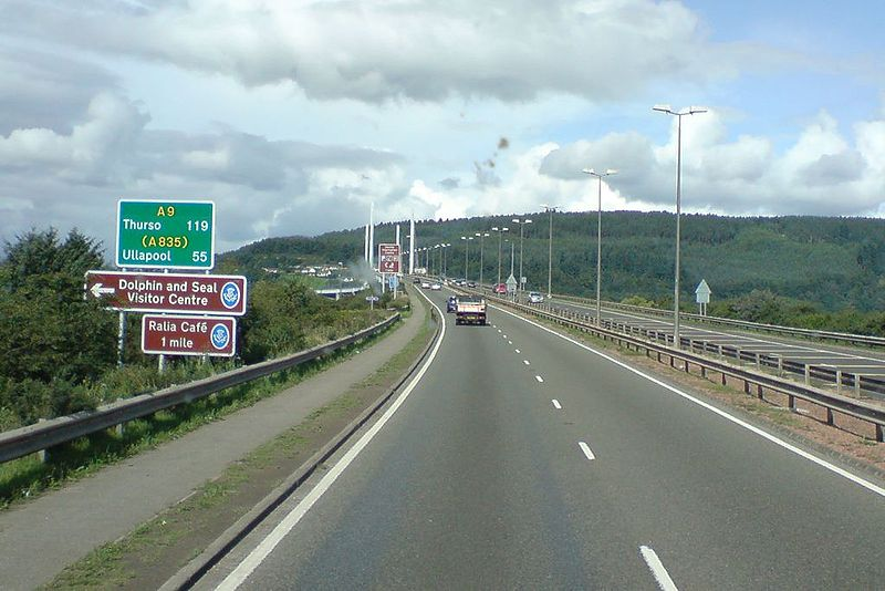 File:A9 Route confirmation sign - Coppermine - 20149.jpg