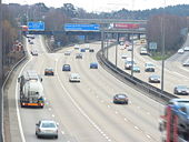 Approaching Wisley Interchange - Geograph - 1089011.jpg