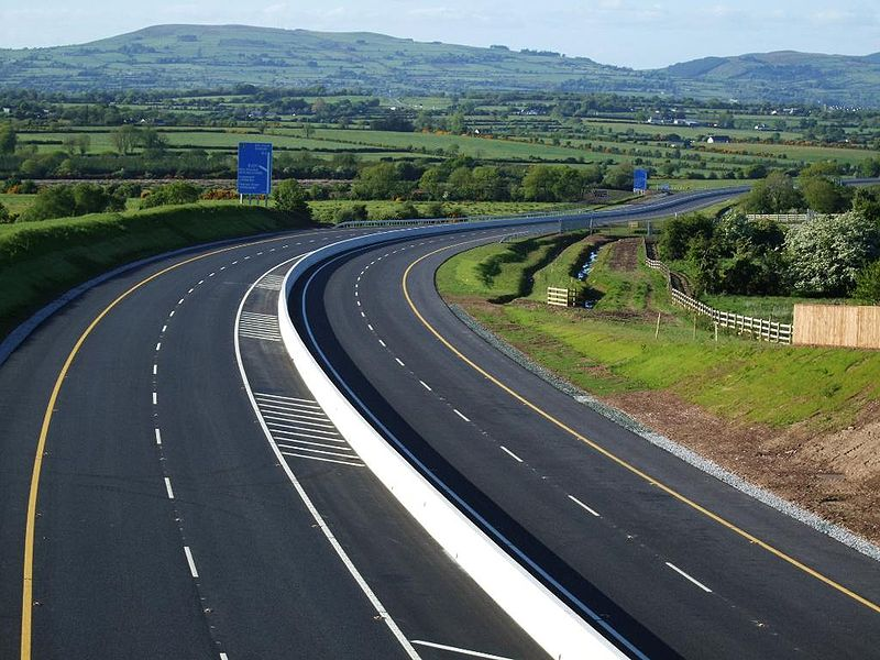 File:The M8 (Ireland) 4 km south of Mitchelstown, County Cork - Coppermine - 22254.jpg