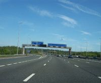 Slip road for the A59 at junction 31 on M6 - Geograph - 2376510.jpg
