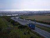A27 looking south from Southwick Tunnel - Coppermine - 17807.jpg