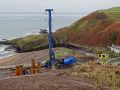 A9 Berriedale Braes Improvement - November 2019 piling rig from above.jpg