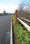 Emergency phone on the bypass at Bridstow Bridge - Geograph - 678290.jpg