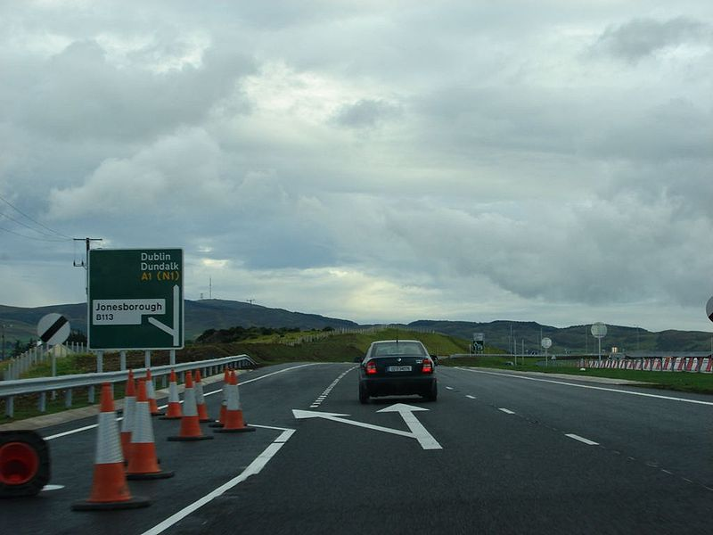 File:A1 SB Ellisholding road exit - Coppermine - 14597.JPG