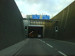 Entering the Blackwall Tunnel Northbound.jpg