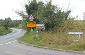 Road signs at junction near Needham Market - Geograph - 546782.jpg