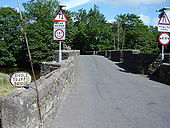 Medieval Bridge with Signs - Geograph - 1372579.jpg