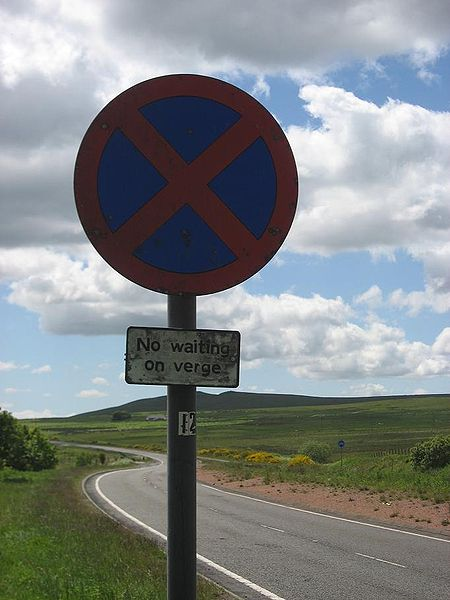 File:Old Clearway Sign, B7078 (1960s A74), Douglas Muir - Coppermine - 18619.JPG