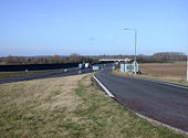 Slip road at M11 junction 11 - Geograph - 677323.jpg