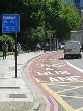 Olympic lane on City Road - Geograph - 3060414.jpg