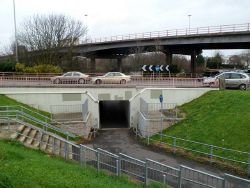Subway under Gabalfa Interchange, Cardiff - Geograph - 2759060.jpg