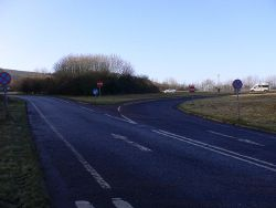 Junction of A and B roads near Buriton - Geograph - 2194851.jpg