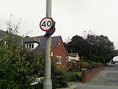 Uncovered Repeater Sign on A6 at Over Hulton - Coppermine - 15444.jpg
