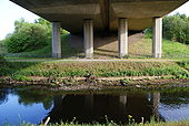 The River Tame under the M60 motorway - Geograph - 1868588.jpg