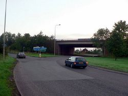 The entry to the N bound M6 Junc 13 ... - Geograph - 249268.jpg