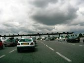 A43 Autoroute - toll booths on approach to Lyon - Coppermine - 7590.jpg