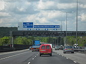 M40 Motorway, Heading West. Junction 3 - Geograph - 1281567.jpg