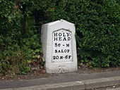 Milestone on the route of the old A5 - Geograph - 189281.jpg