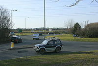 Roundabout on the A350 Chippenham bypass - Geograph - 1807551.jpg