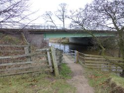 Footpath under the A1 (C) Russel Wills - Geograph - 3280423.jpg