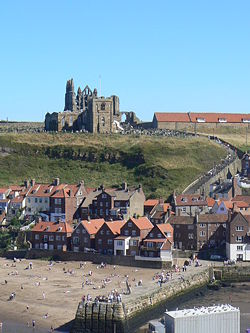 Whitby Abbey and steps - Geograph - 1031699.jpg