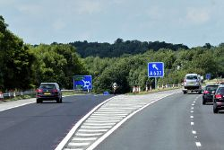 Northbound M1, Exit Sliproad at Junction 38 - Geograph - 4842144.jpg