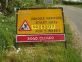 Advance Warning Information Sign Re Road Closure Hunningham Bridge - Coppermine - 11599.jpg