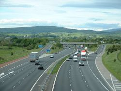 M6 Motorway, near Carnforth - Geograph - 13994.jpg