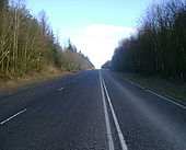 Straight section of the A814 - Geograph - 1703662.jpg