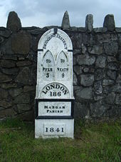 Milepost (Relocated?) - Geograph - 1471155.jpg