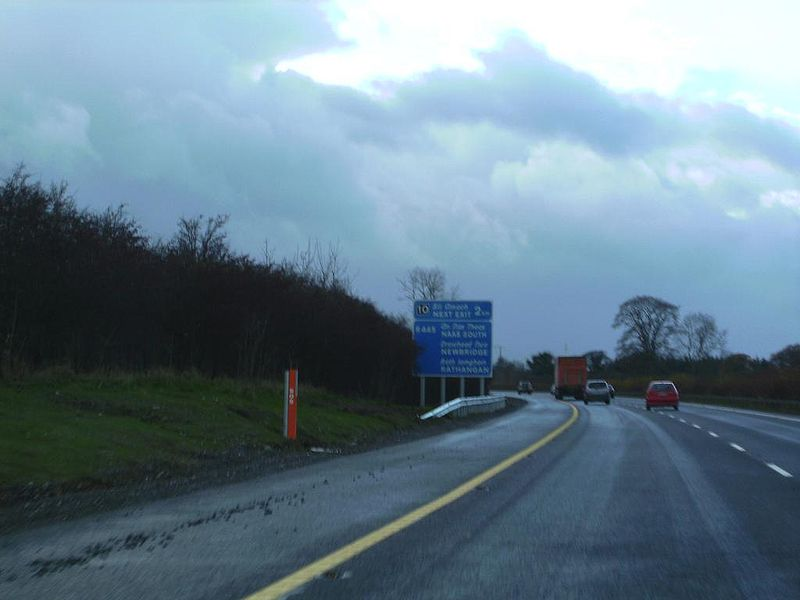 File:Approaching new advance sign on M7 Junction 10 Southbound. - Coppermine - 16132.JPG
