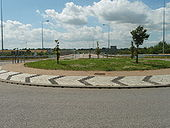 Roundabout and Bridge - Geograph - 886681.jpg