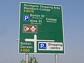 A brand new direction sign on the A6078 - Coppermine - 5917.JPG