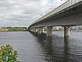 The A4232 road bridge over the River Taff - Cardiff (2) - Geograph - 1468909.jpg