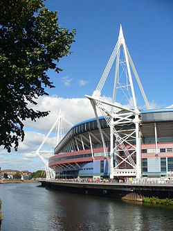 Millennium Stadium on World Cup Day - Geograph - 557838.jpg