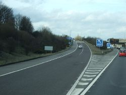 A57 exit road from the M1 - Geograph - 2842831.jpg