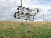 Direction signs at Mullacrew Cross Roads - Geograph - 5073304.jpg