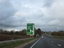 Approaching A30 junction with A395 - Geograph - 3831812.jpg