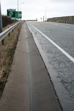 Slip road off the A50 - Geograph - 1674333.jpg