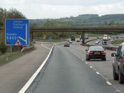 Southbound M40, Junction 12 (for Gaydon) - Geograph - 3526785.jpg