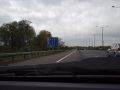 25. Lane merge at M4 Junction 4B - Coppermine - 1866.JPG