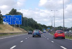 M42 approaching junction 1 - Geograph - 4613270.jpg