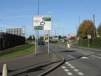 Patent Shaft roundabout - Holyhead Road approach - Geograph - 1017429.jpg